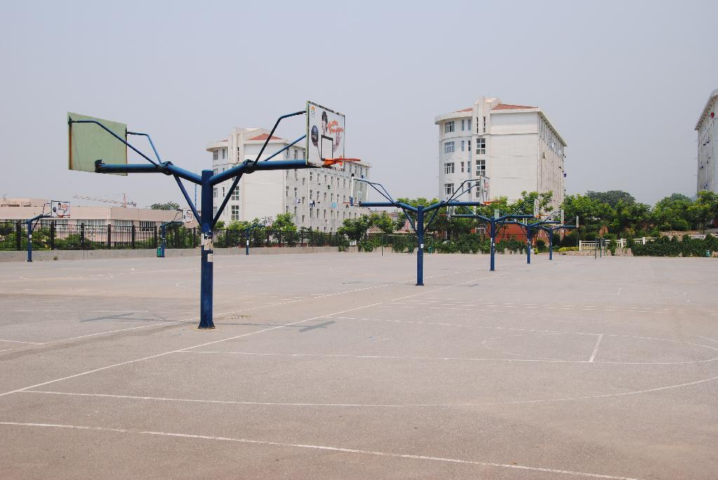 临潼校区篮球场-西安科技大学体育部